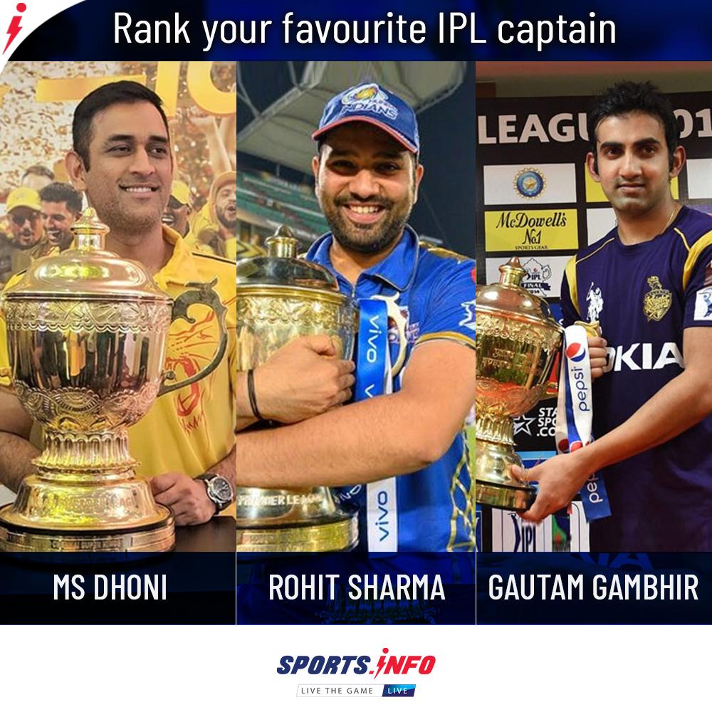 Comment down your answers 🤔🤩👇 . . . #IndianPremierLeague #RohitSharma #Dhoni #KKR #SportsDotInfo #GautamGambhir #KhelBolega