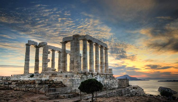 Temple of Poseidon.Sounion,Attica,Greece.