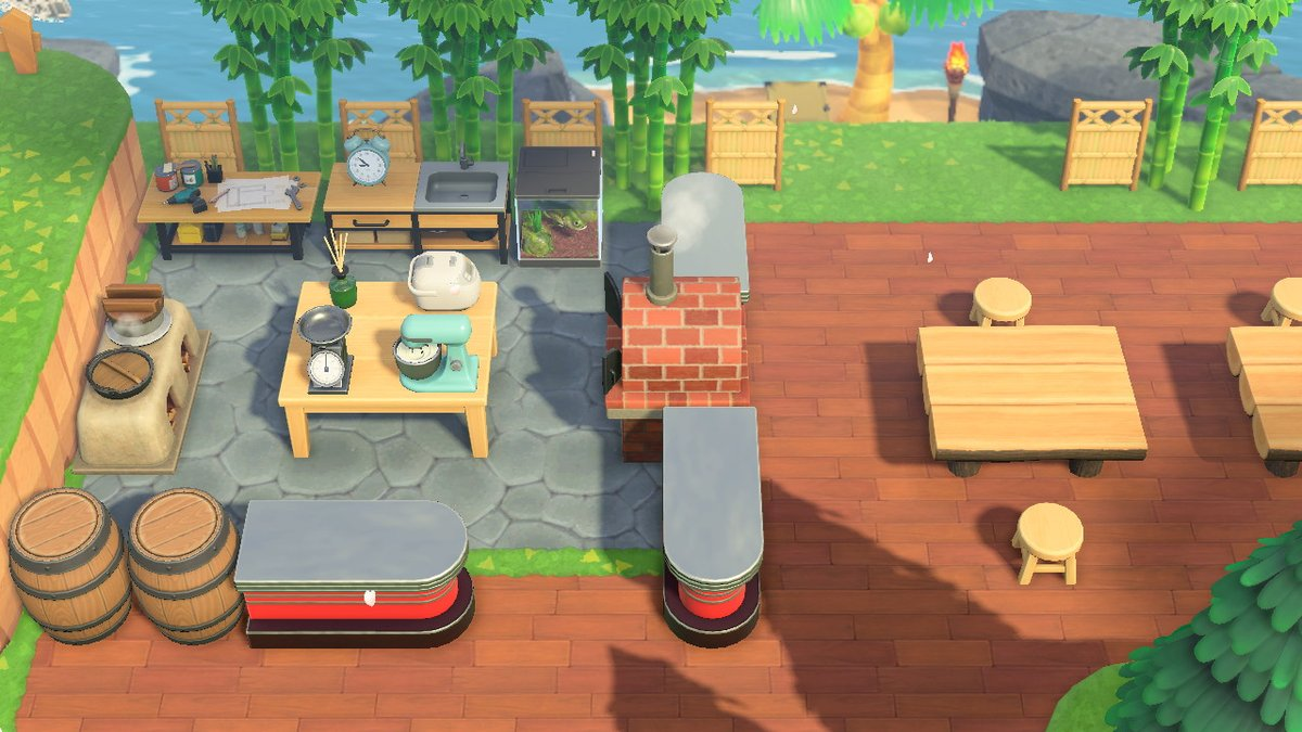 Nickryan On Twitter Outdoor Diner Is Coming Together Animalcrossing Acnh Nintendoswitch