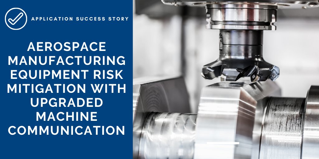 To meet the goals of an equipment risk mitigation upgrade, this #aerospace #manufacturer utilized an overlay network consisting of Advantech rugged, managed #Ethernet switches and our Intelligent #CNC Management Solution.