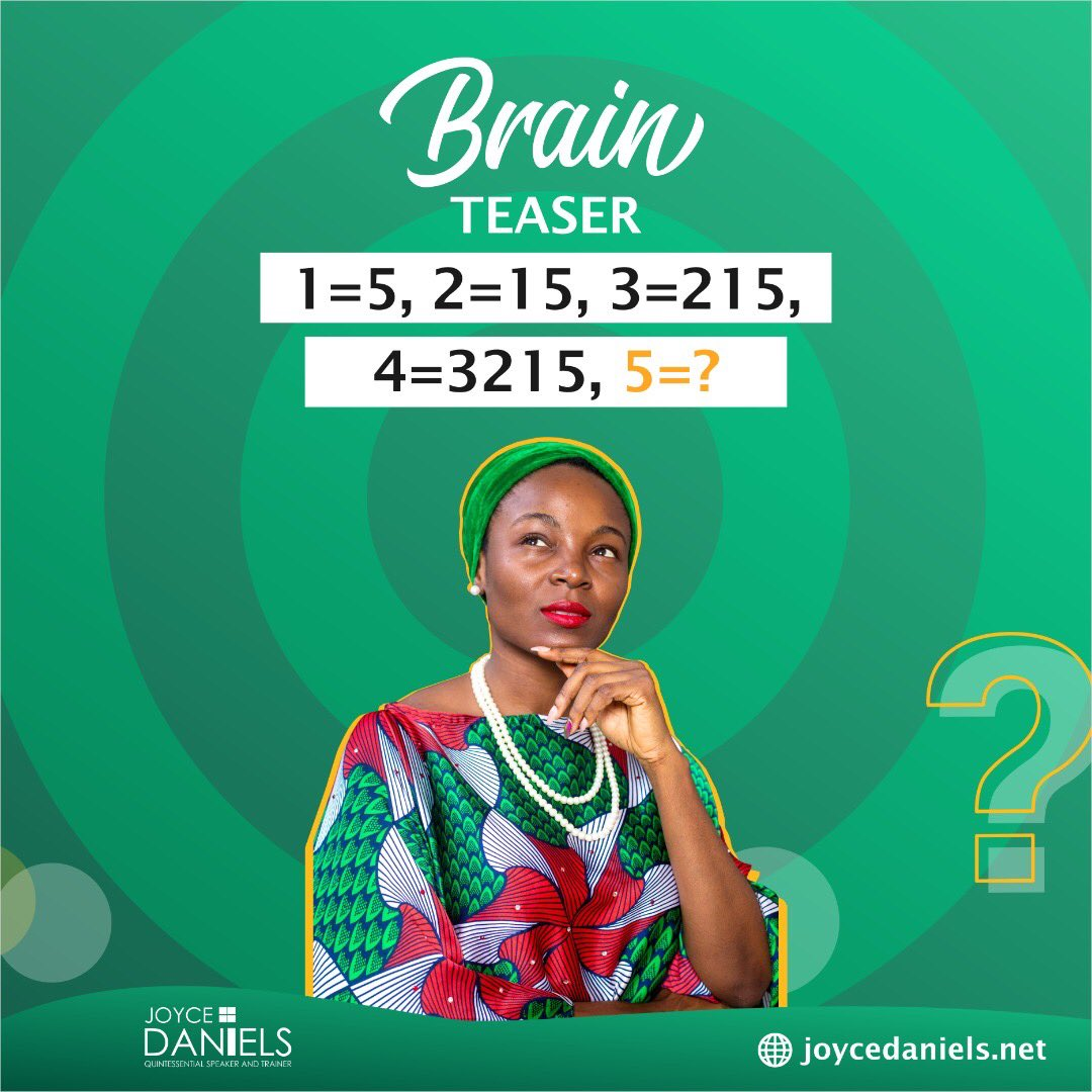 How well do you know your numbers?  #TriviaThursday #riddle #brainteaser #fact #publicspeaking #communication #presentationskills #professional #speaker #trainer #mc #talknation #JoyceDaniels #JoyceToTheWorld  pic.twitter.com/Yx8M7yqG4s