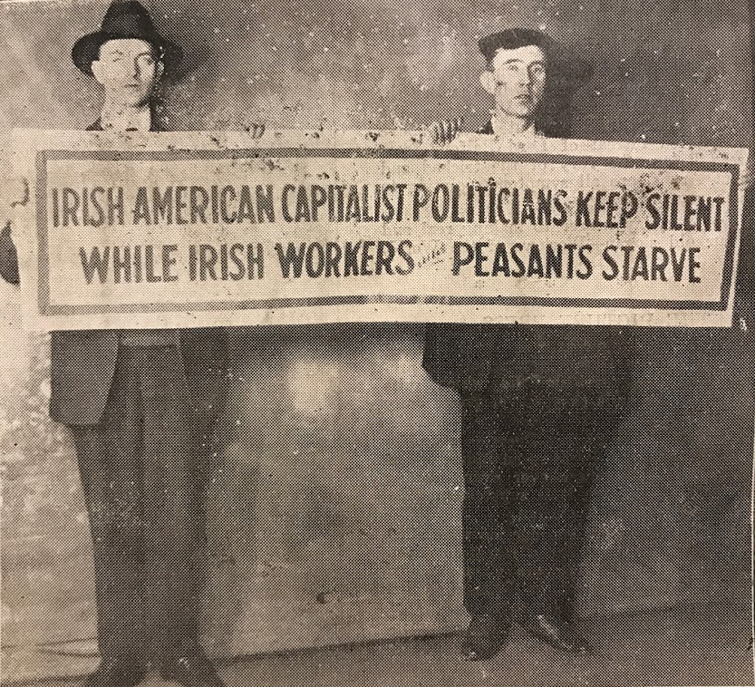 And here's an image of a protest in a US cinema in 1925, organised through O'Flaherty's committee.