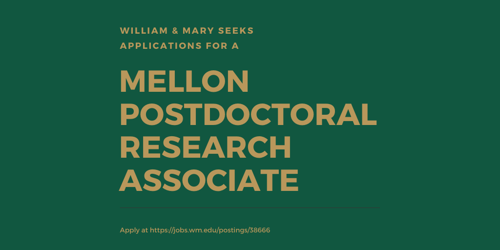 William & Mary seeks a postdoc fellow to participate in research & programming for The Lemon Project. This is a two-year residential fellowship, supported by the Mellon Foundation. Salary is $50k per year. More info and to apply: https://t.co/rVgTehe65d & https://t.co/6tQOxRdsVy https://t.co/vt41w3fATi