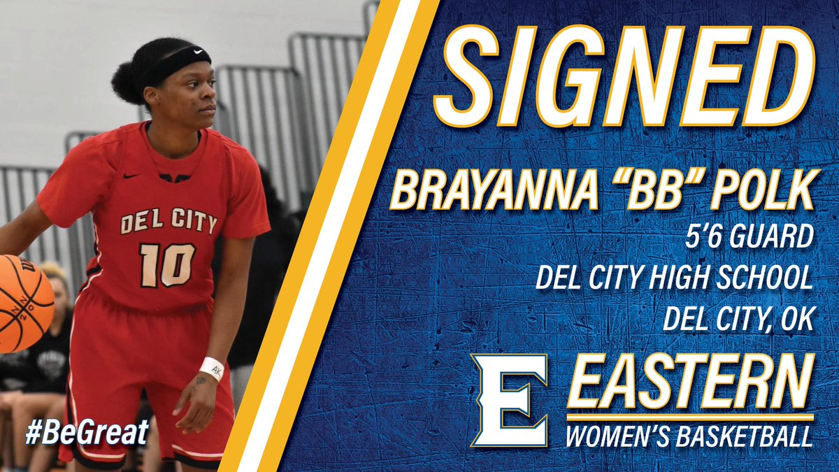 """Eastern will welcome 5' 6"""" guard Brayanna Polk, of Del City, Oklahoma, this fall. Welcome to the Mountaineer family, Brayanna! #BeGreat #TheBigE #NJCAAWBB"""
