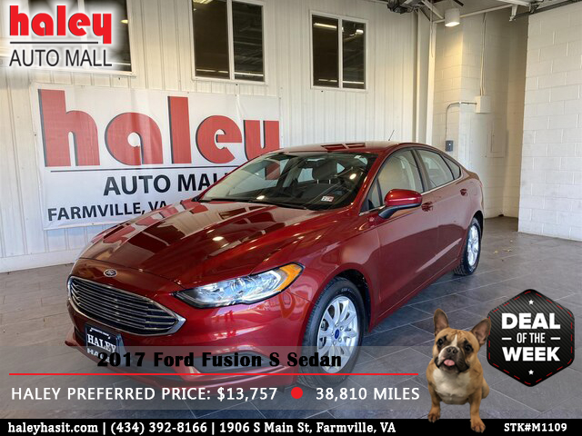 Harley's Thursday Deal is a 2017 Ford Fusion S Sedan! This vehicle has an emergency communication system, remote keyless entry, and more! Shop online at https://bit.ly/3aWxhpfpic.twitter.com/xRjuyTlRPM