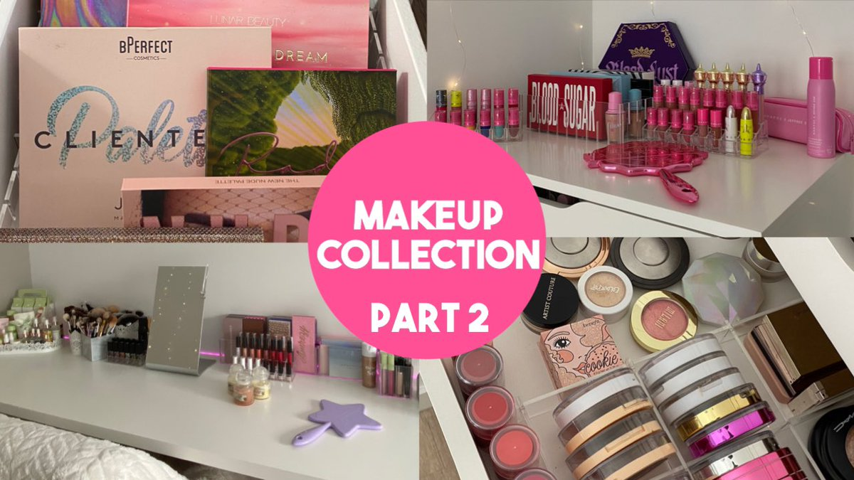 My makeup collection part 2 is now up on my channel!#makeupcollection   https://youtu.be/ftlM2IDeOQopic.twitter.com/u635FvvjfC