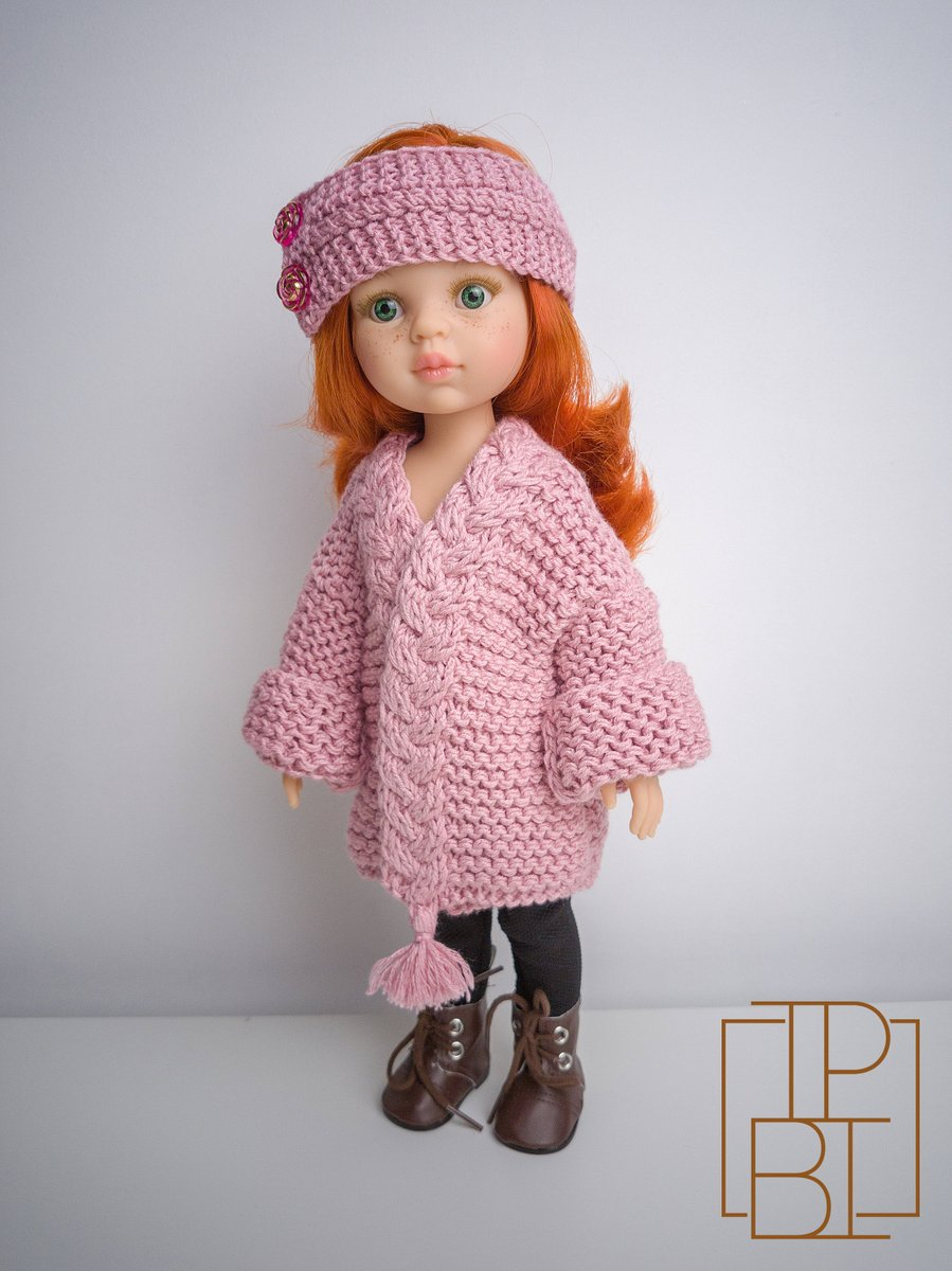 """Excited to share the latest addition to my #etsy shop: Paola Reina Doll Chunky Cardigan - Knitting Pattern for 13"""" Paola Doll and Little Darling Doll https://etsy.me/2yOxPPM #supplies #birthday #easter #knitting #knitteddollclothes #knitteddolloutfit #knittedpaolaoutfipic.twitter.com/v8SFqlu6Ii"""