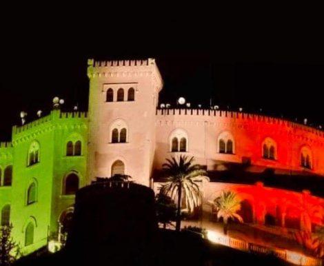 Castello Utveggio si colora del tricolore e sui social impazza  l'hastag #siamosullastessabarca - https://t.co/hZYroeSJ0n #blogsicilianotizie