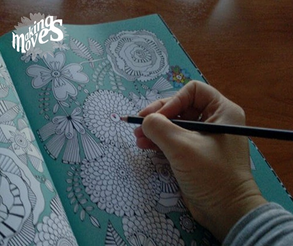 Coloring is a simple, repetitive activity that'll help you disconnect from the never-ending news cycle. It'll help you reach the meditative state of flow where you're not thinking about anything else. Throw on your favorite music, pour a hot cup of tea and get ready start!pic.twitter.com/BGFkH2jSTx