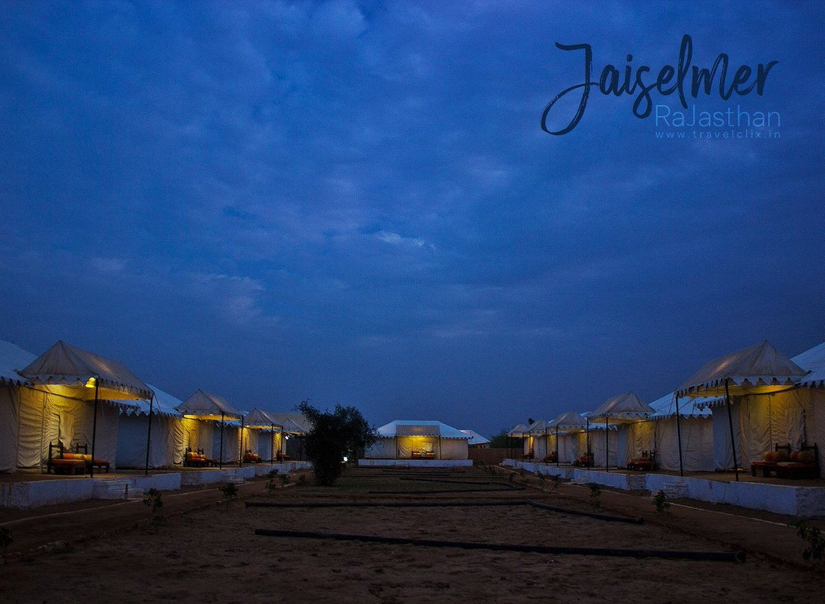 Tent city at Jaisalmer , Rajasthan  #nightphotography #jaisalmer #photography