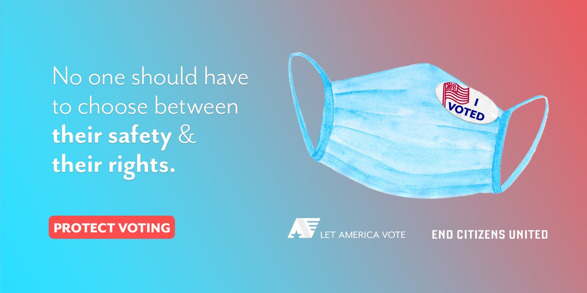 No one should have to choose between their health and their vote. Our democracy depends on states implementing the appropriate policies and measures to ensure voters can make their voices heard. Protect voting — take action now: endcitizensunited.org/the-safe-democ… #SAFEDemocracy