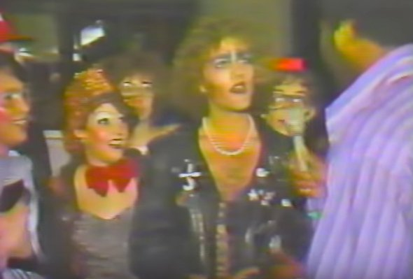 Pre-R.E.M. Michael Stipe dressed up to see Rocky Horror, 1978