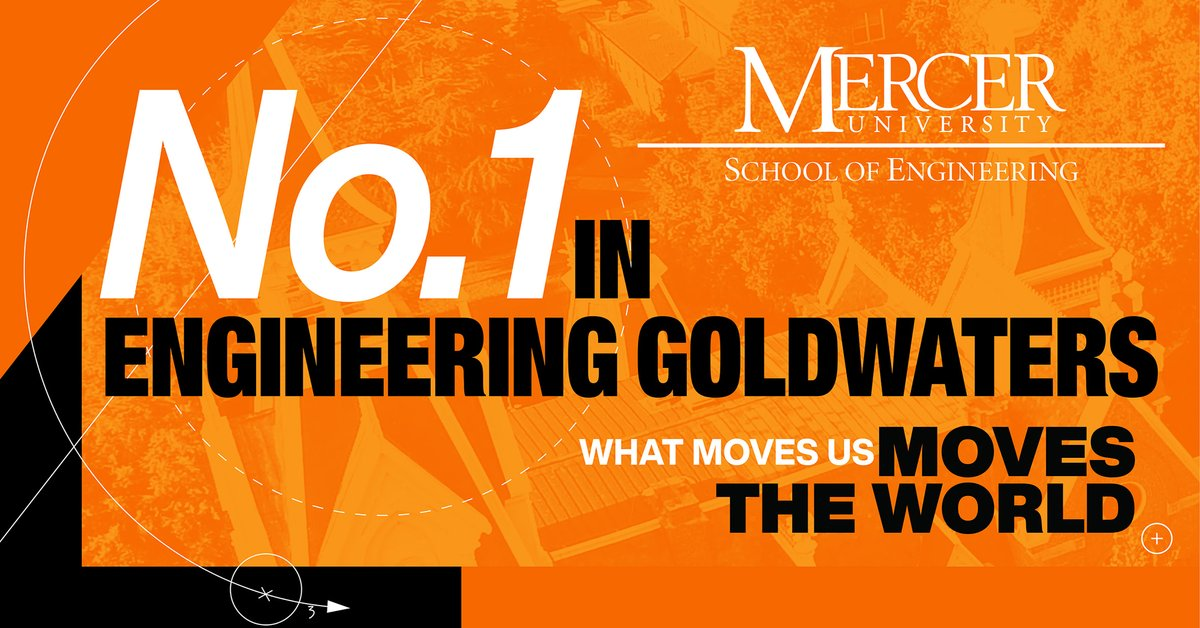Mercer University is a national leader in Goldwater Scholarship awardees, ranking first over the past two years for the number of engineering students receiving the country's most prestigious scholarship for undergraduates in science, mathematics and engineering.  #mercerinspire https://t.co/UFXyAzJAb6