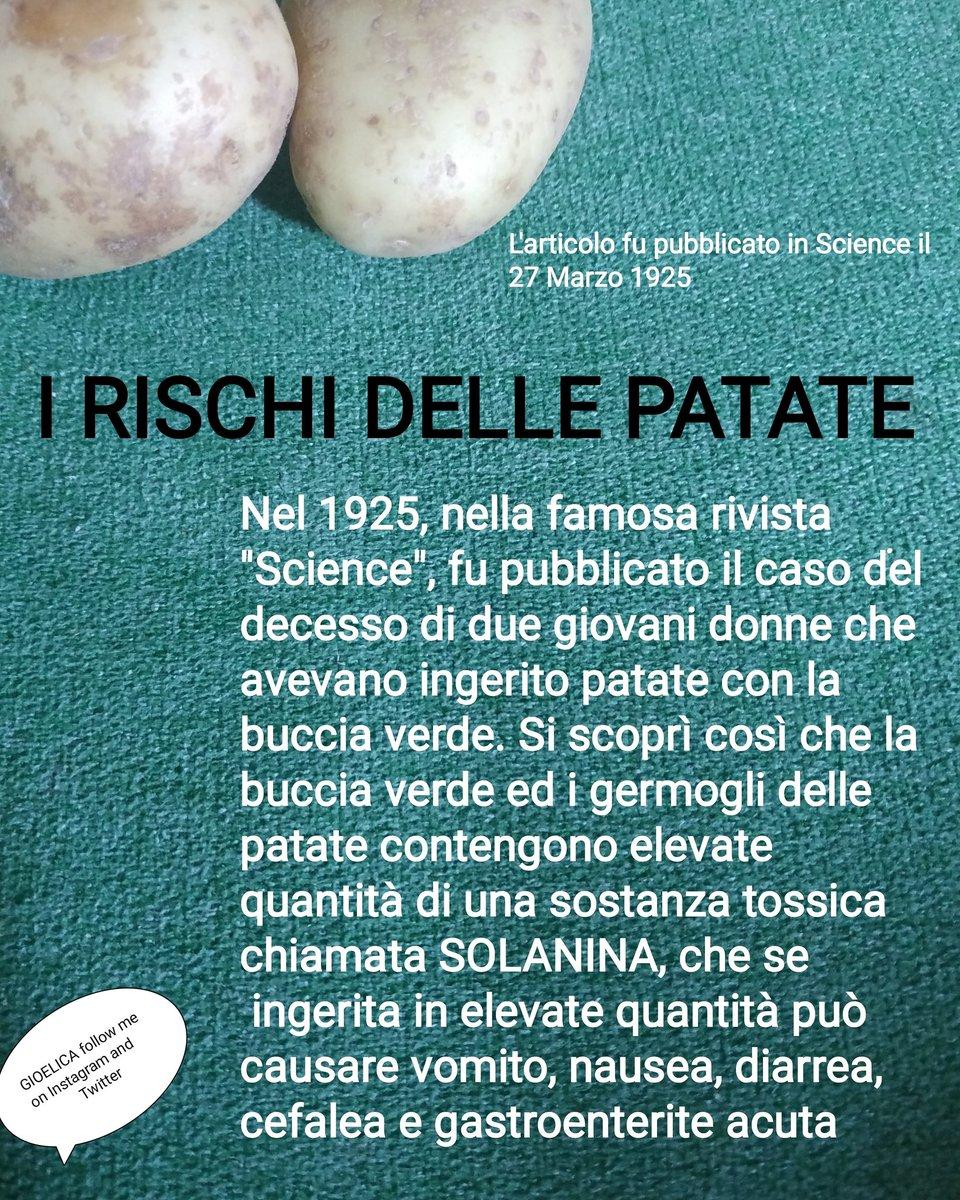 I rischi delle patate con la buccia verde  #alimentation #Salute #healthylifestyle #food #lifestyle #medicine #nutrition
