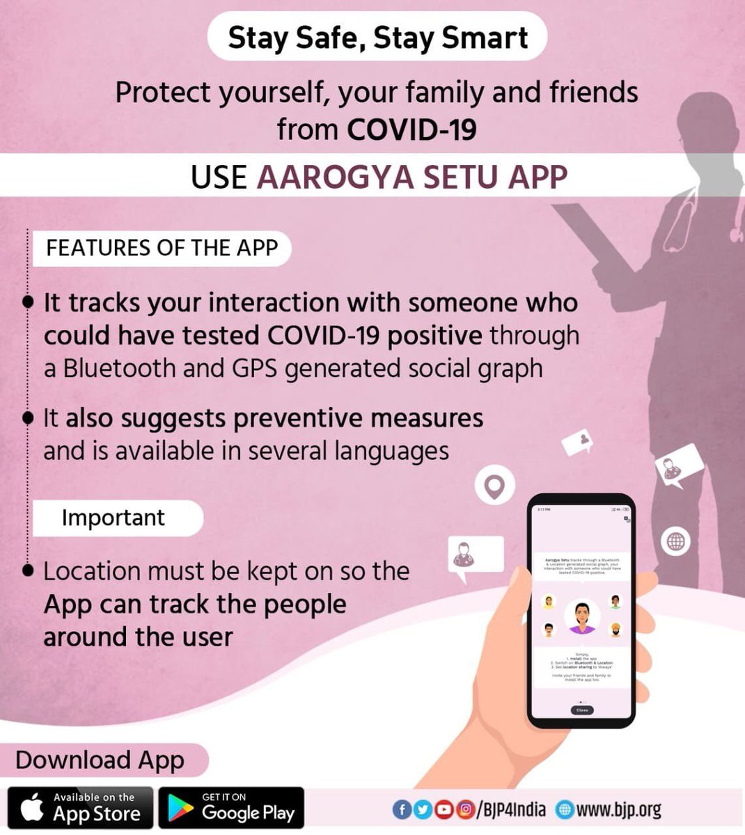 Down load & install #AarogyaSetuApp now & stay safe ... #IndiaFightsCorona pic.twitter.com/Esep8GHWYh