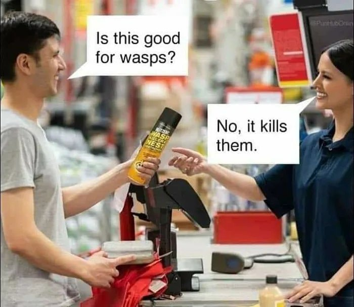 Communication is tough   #otteneps #meme #memes #memer #memestagram #funny #lol #smart #dankmemes #dankmeme #funnymemes #hahaha #wasp #departmentstore #memesdaily #waspkiller #bugspray #kill #good #communication #tough