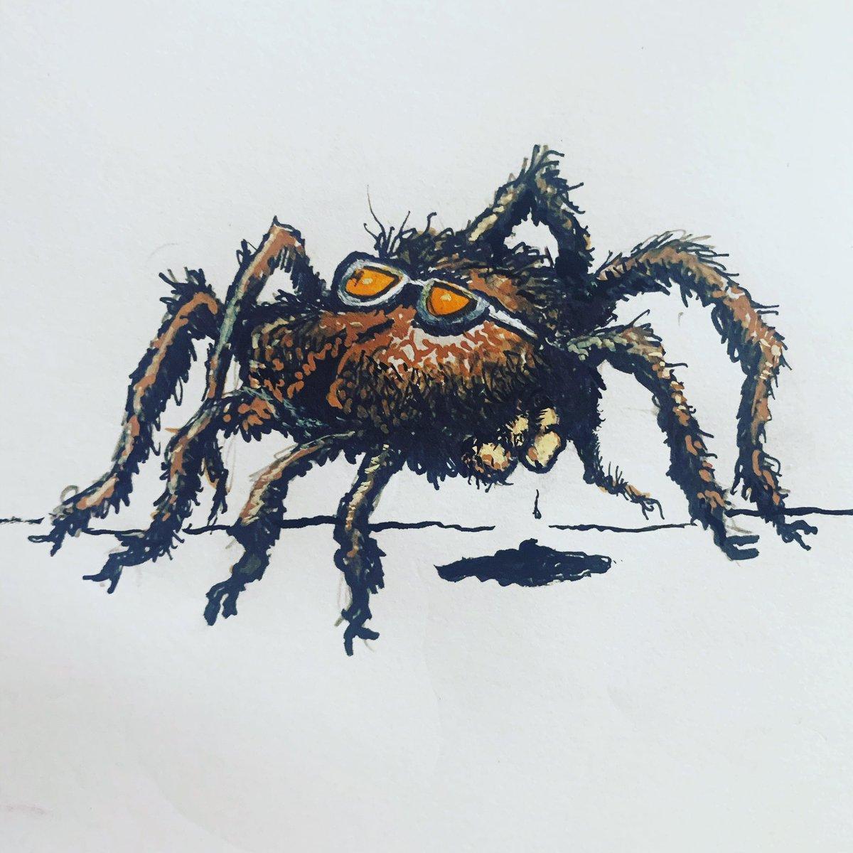 #barkingspider #spider #spiderman #websticky #illustrationart #lowbrow #lowbrowart #slapps #Spanking101 #spiderlurkpic.twitter.com/HU2SRyLWPG