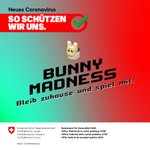 Image for the Tweet beginning: Bunny Madness  Bleib zuhause und spiel