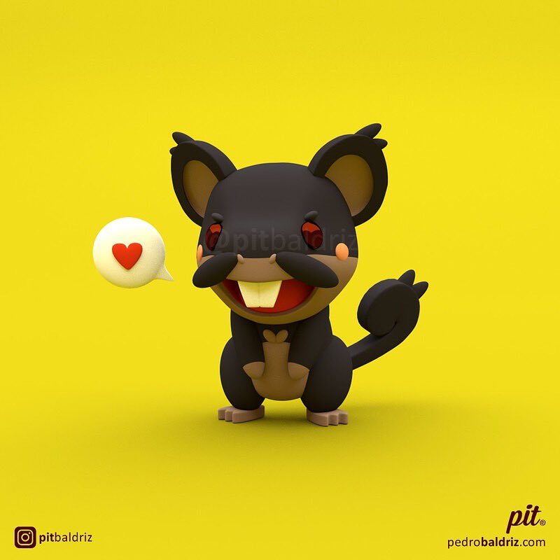 Alola! Stay safe #pitbaldriz #rattata #raticate #alola #Blender3dpic.twitter.com/cEDR9jVEln
