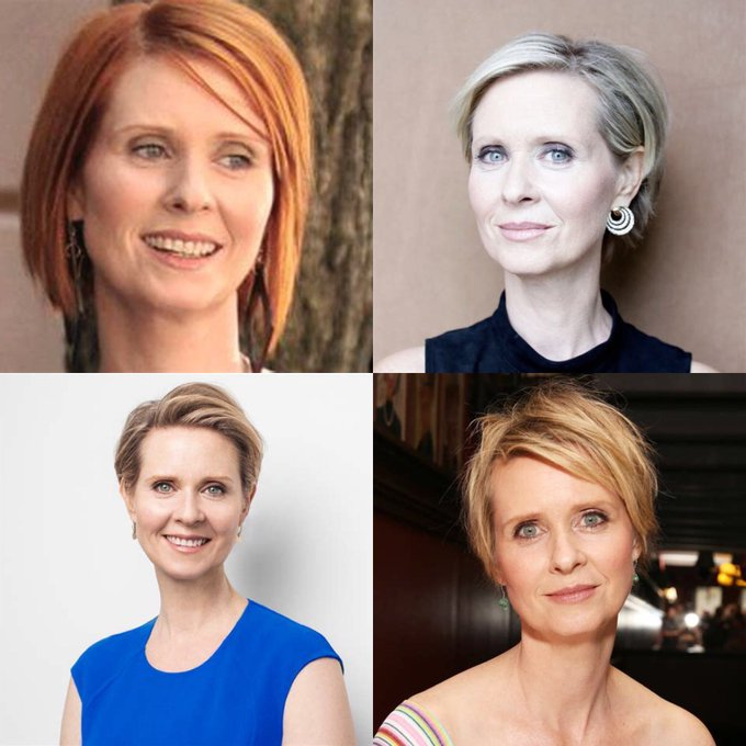 Happy 54 birthday to Cynthia Nixon .hope that she as a wonderful birthday.