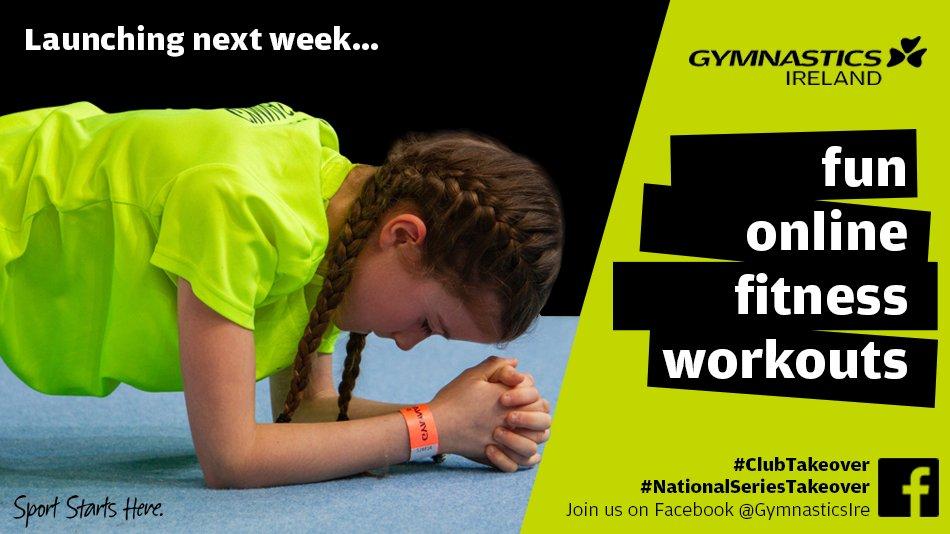 Gymnastics Ireland 'Takeover' fitness workouts launching next week... https://bit.ly/3c5PbWw