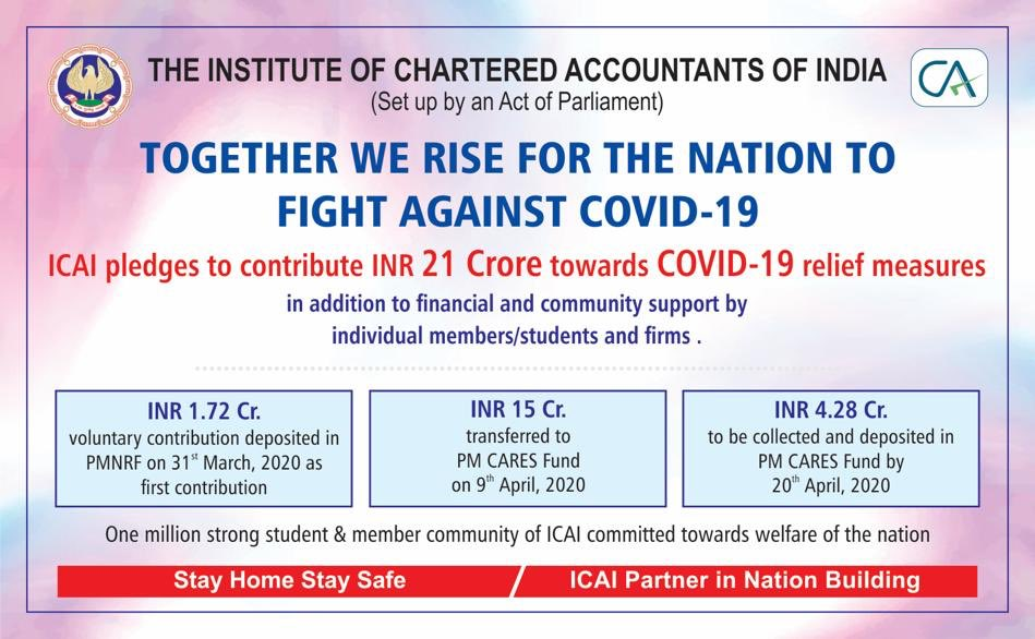 Thanks to ICAI Students and Employees . #IndiaFightsCorona pic.twitter.com/Vier1AtMhU