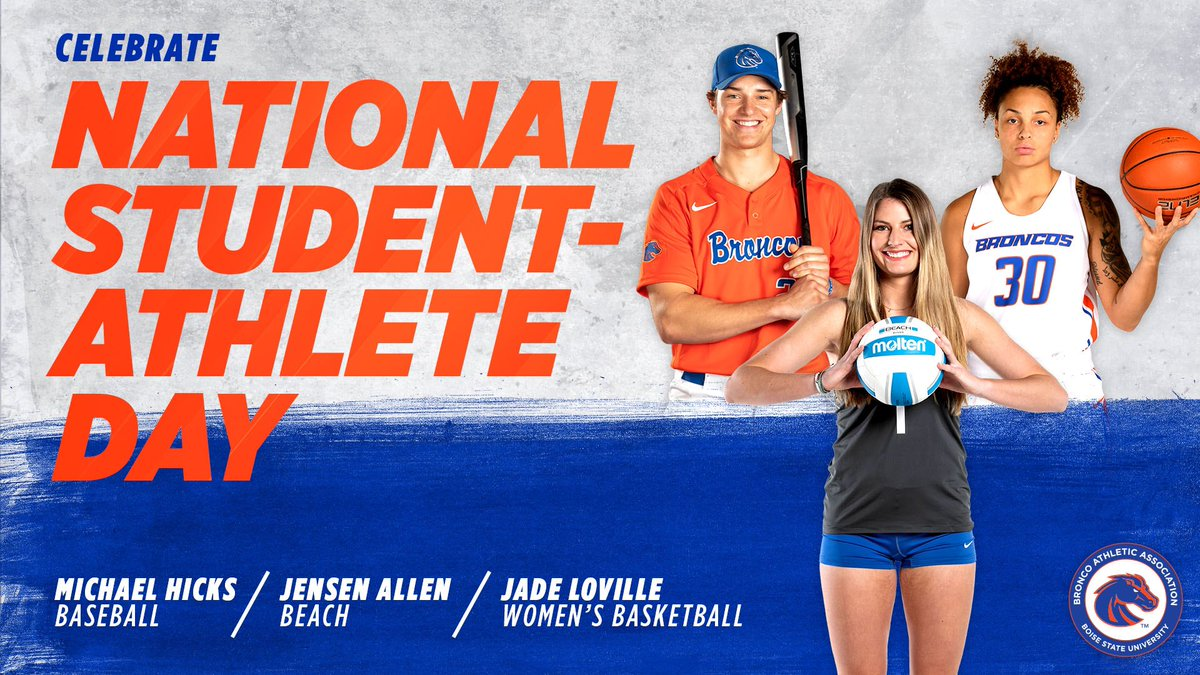 Excited to spend another day celebrating @BroncoSports student-athletes! Your hard work and dedication to everything you do is unmatched  #NationalStudentAthleteDay #BroncosUnite https://t.co/3XMRm7DQ6X