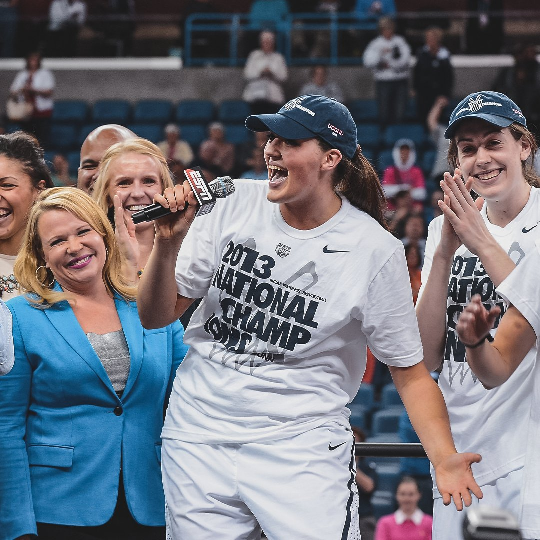 OTD April 9, 2013: @bigmamastef and @UConnWBB crowned NCAA National Champs at New Orleans Arena. 🏆 https://t.co/S8AndUZUDM