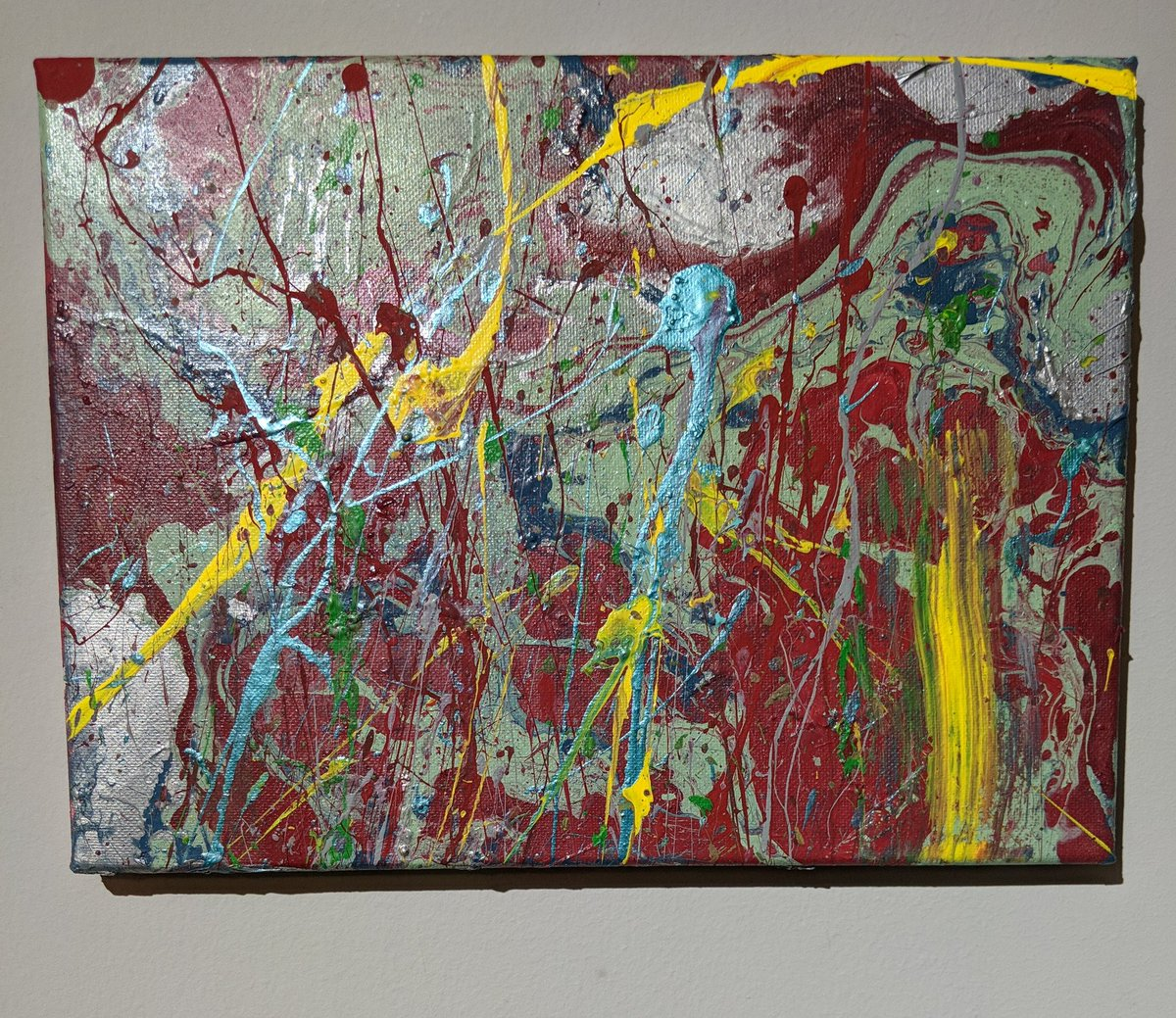 Wanting to share our masterpiece that could be yours to own. Check it out #eBay #painting #modernart #beauty #multicolor