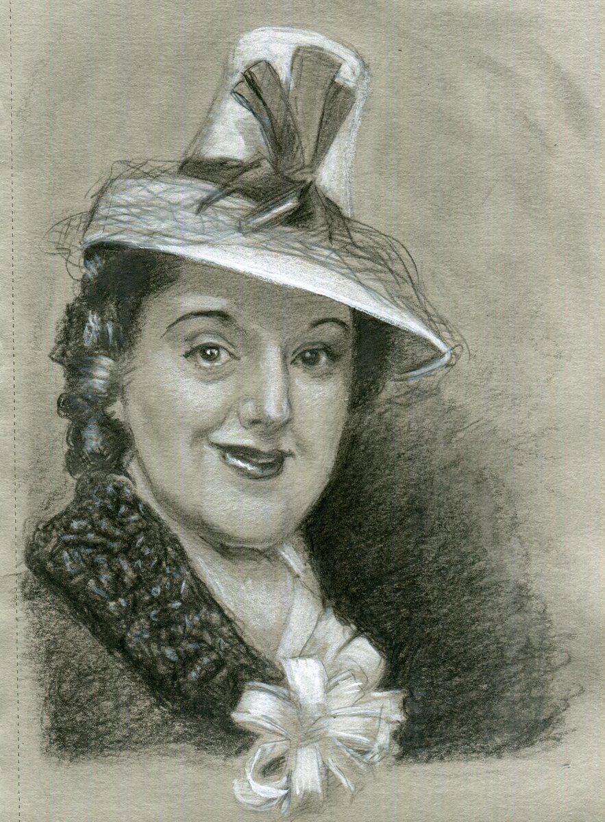 It really doesn't matter if your hat is too small. It's how you wear it darling! #Smile #drawing #portrait #pencil #sketchbook #vintage #hat