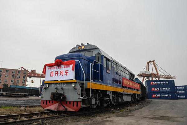 East #China's Jiangsu province saw a surge in China-Europe freight train trips in the first quarter, according to figures released by the #Nanjing customs.  https://bit.ly/3c37VG7