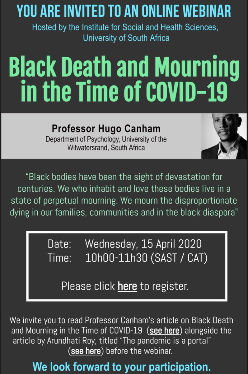 My amazing decolonial clinician comrades in South Africa invite everyone to attend this incredible event. It will also be taped an available on the African Psychologies YouTube channel. Please share with interested folks! Link to register: