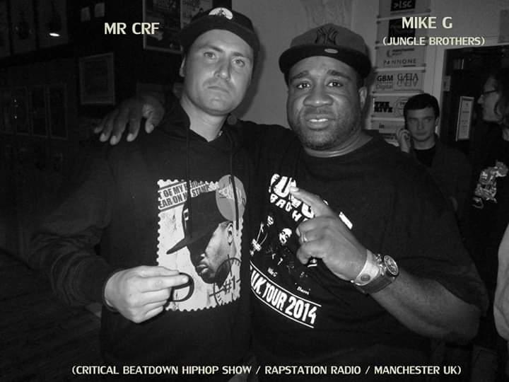 Respect The Legends. Shout to Mike G #criticalbeatdownradio #junglebrothers #MrCRF #hiphopheads pic.twitter.com/r1TQAfz8Tt
