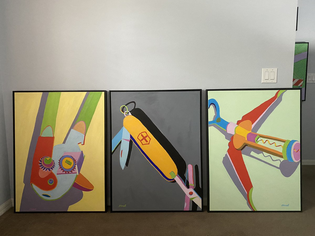 3 latest paintings #modernart #contemporarypainting #collector #curator pic.twitter.com/HGkHLAdRod
