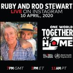 Image for the Tweet beginning: While at home, @RealRubyStewart and
