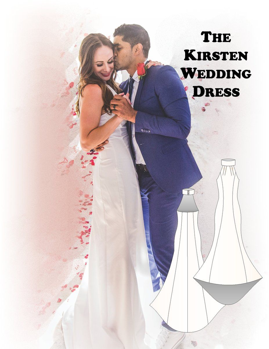 The Kirsten wedding dress #sewing pattern #handmade #crafts #fashion #onlinecraft #craftbuzz #bridal