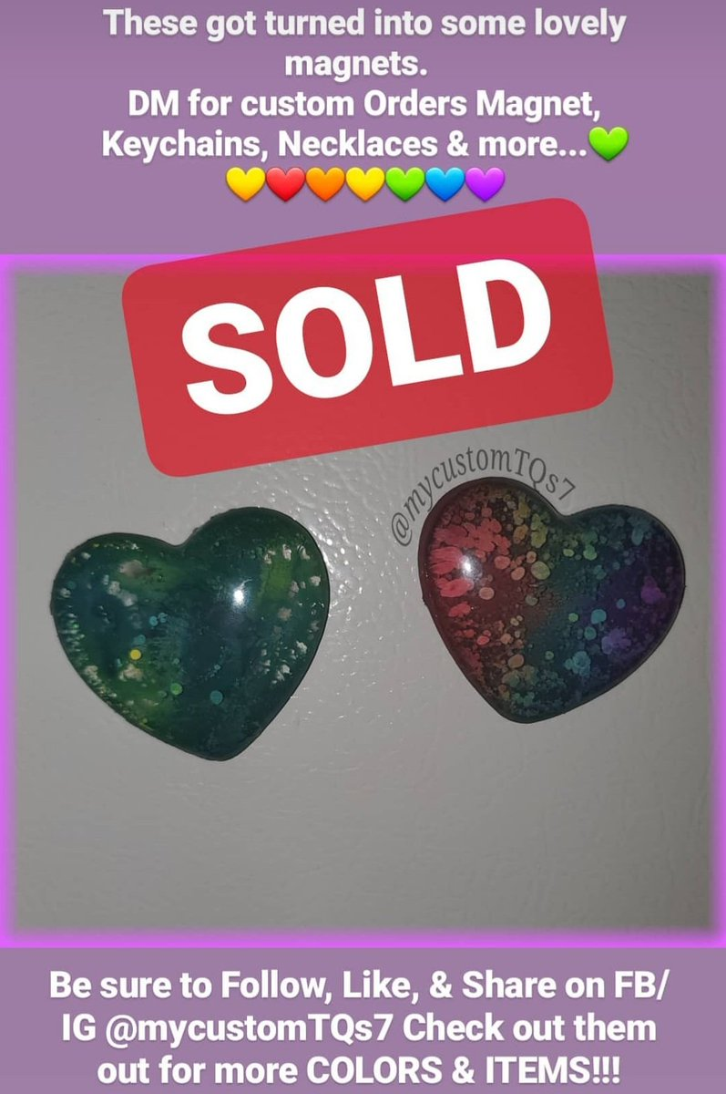 •°contact me for custom work FB/IG: @mycustomtqs7 •° #mycustomTQs7  #alcoholink #customresinhearts #rainbow #keychains #magnets #necklace #handmade #resin  #personalized #glitter #crafter #art #artist #designer  #beliveinyourself #ilovewhatido #handmade