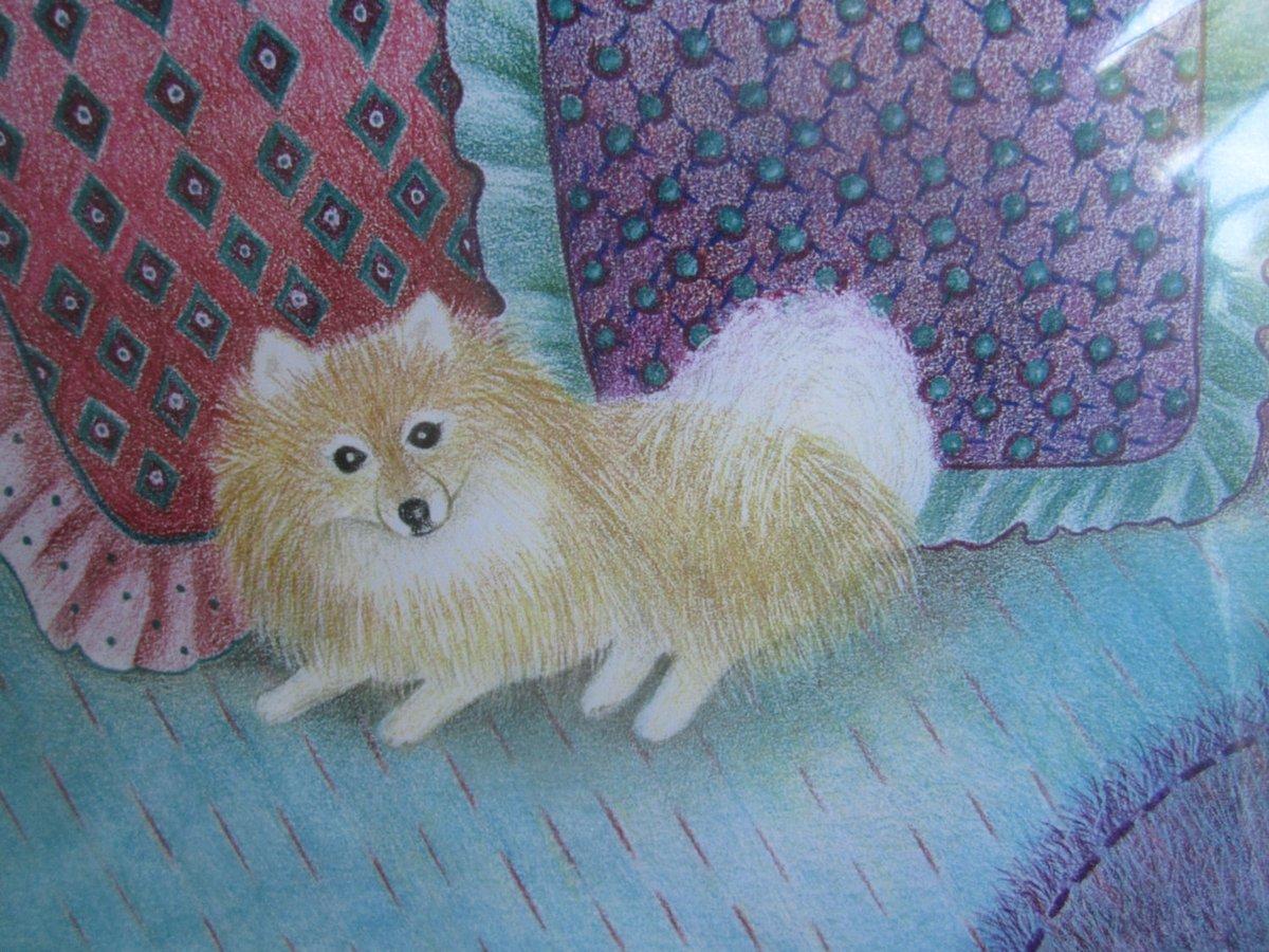 POMERANIAN Posing With Pillows - Matted Laser Print - Free Shipping  #Handmade #EtsyTeamUNITY #fineartforsale #TMTinsta #Dog