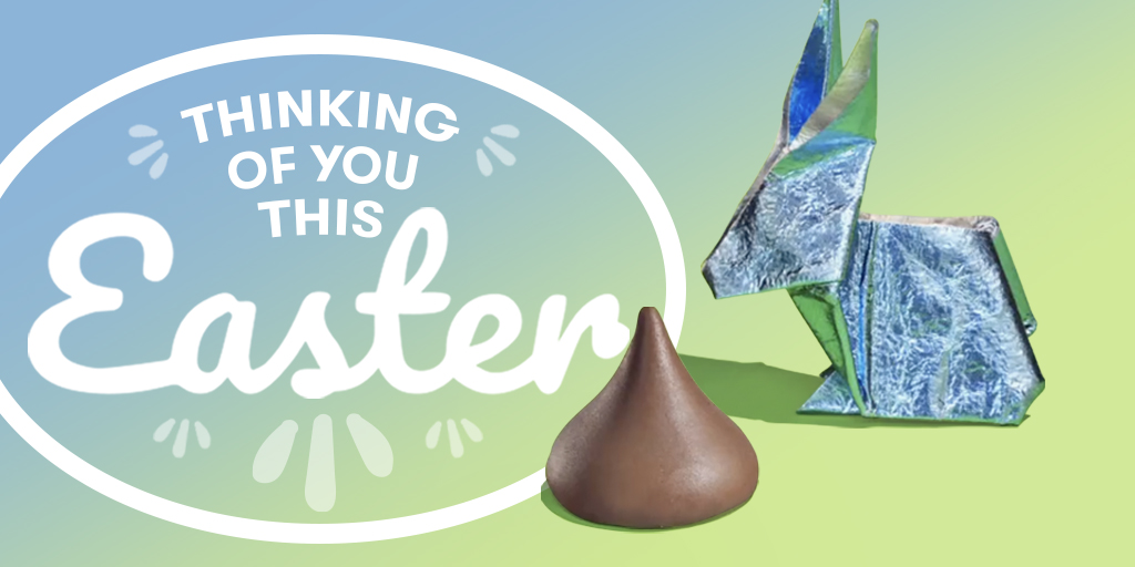 Melt the distance this Easter. Retweet and tag a friend. #heartwarmingtheworld