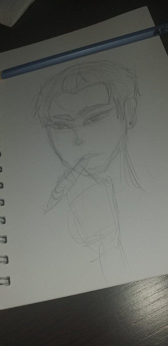 bueno hice un boceto rapido de daisuke si queda piola les muestro a pic.twitter.com/iNrdw7dMlB