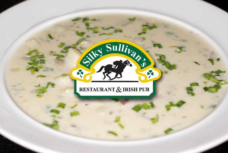 #silkysullivans clam chowder soup w/garlic bread $5.95 is perfect on this cold rainy day. Call us to place your order, curbside #pickup available from 4:30-7:30 Thursday and 11:30-7:30 Friday. See our temporary takeout menu for other available items. Beer & Wine available to go.