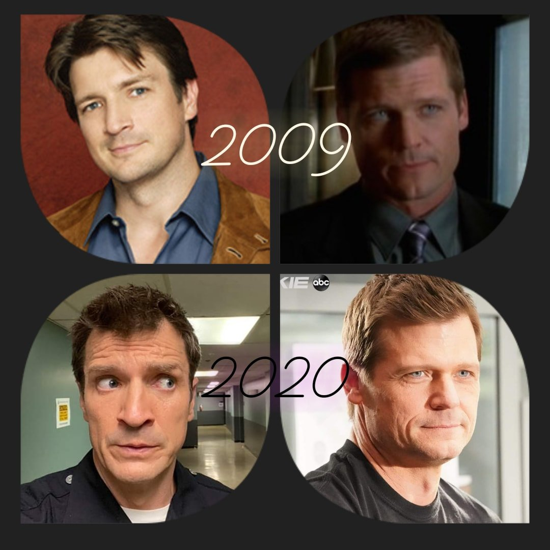 Time goes... So quickly... #nathanfillion #baileychaise #castle #therookie