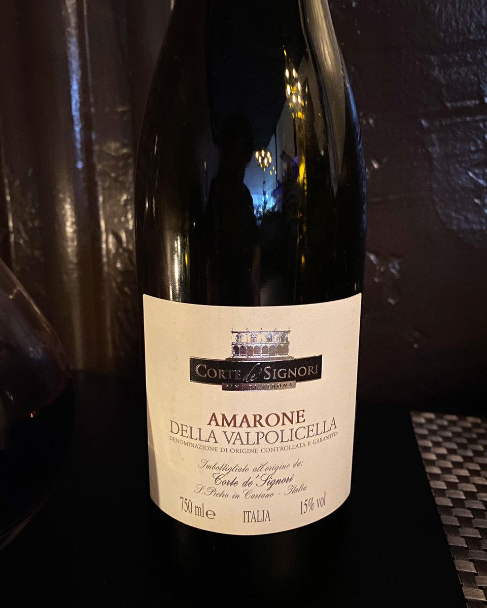 Amarone della Valpolicella from Corte de Signori. Valpolicella should be more recognized. They make good wines! #amaronedellavalpolicella #valpolicella #italianwine #corvina #veneto #wine #somm #sommelier #イタリアワイン #ヴァルポリチェッラ #ワイン #ソムリエpic.twitter.com/rHkxfcQ8zs