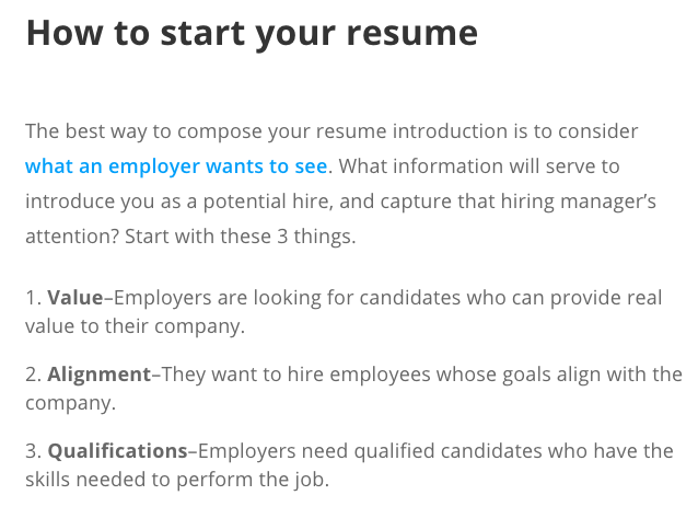 Zipjob On Twitter Resume Tip Start Strong With A Strong Resume Introduction That Will Capture Attention