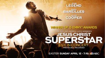 NBC to present an encore of   #JesusChristSuperstar starring @johnlegend and @SaraBareilles on Easter Sunday, April 12 https://t.co/oIOljjNcAi