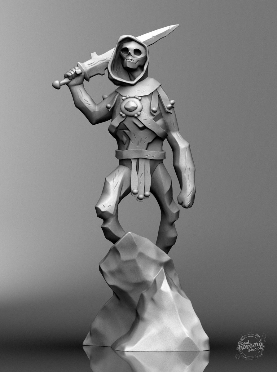 Skeletor statue from a recent @artofmmignola drawing.