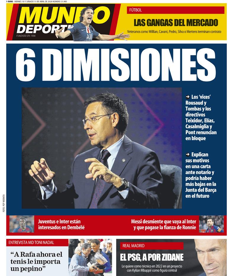 🗞️ Esta es nuestra portada de hoy https://www.mundodeportivo.com/elotromundo/actualidad/20200409/48401919164/portada-de-mundo-deportivo-del-viernes-10-y-sabado-11-de-abril-de-2020.html…