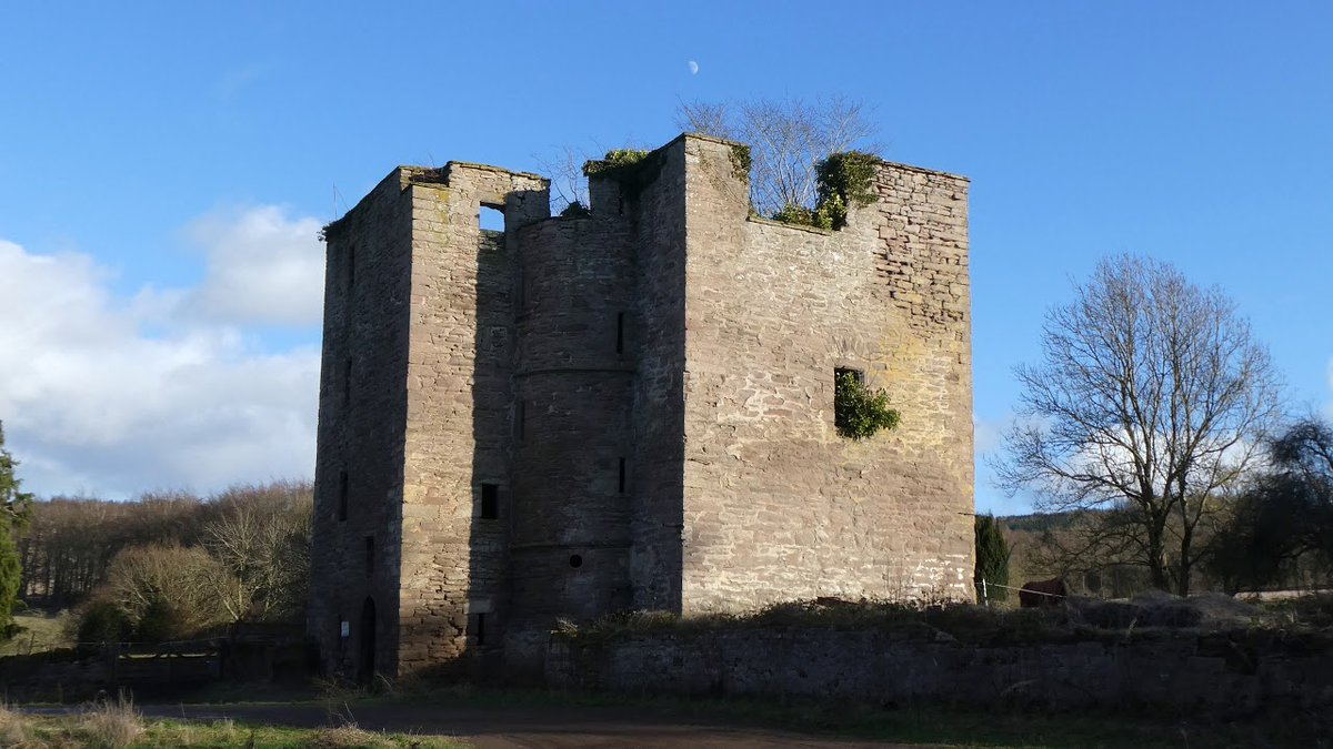 Tour #Scotland virtual travel video Blog #Visitors' Guide to #Pitcur #Castle on ancestry, genealogy, #Scottish family history visit to #Strathmore, #Perthshire. The Castle of Pitcur is a high square tower, now in ruins