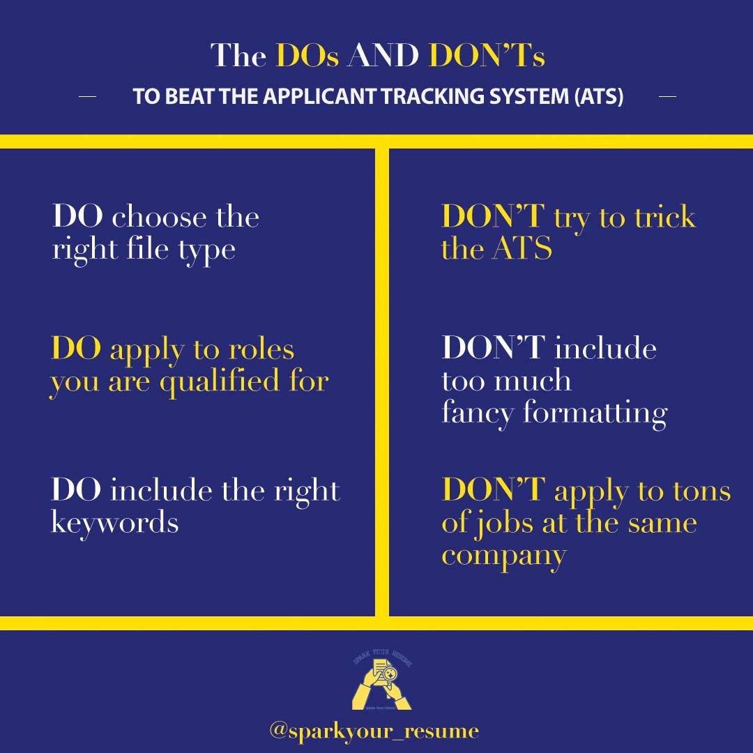 #TippingThursday's 💡  Follow these dos and don'ts and you will have an ATS-friendly resume that'll be sent right into the hands of the recruiter!  #InterviewTips #JobSeekerSA #Career #CareerAdvice #ResumeWriter #CareerTips #work   #Motivation #Hiring #FreeCodeFridayContest