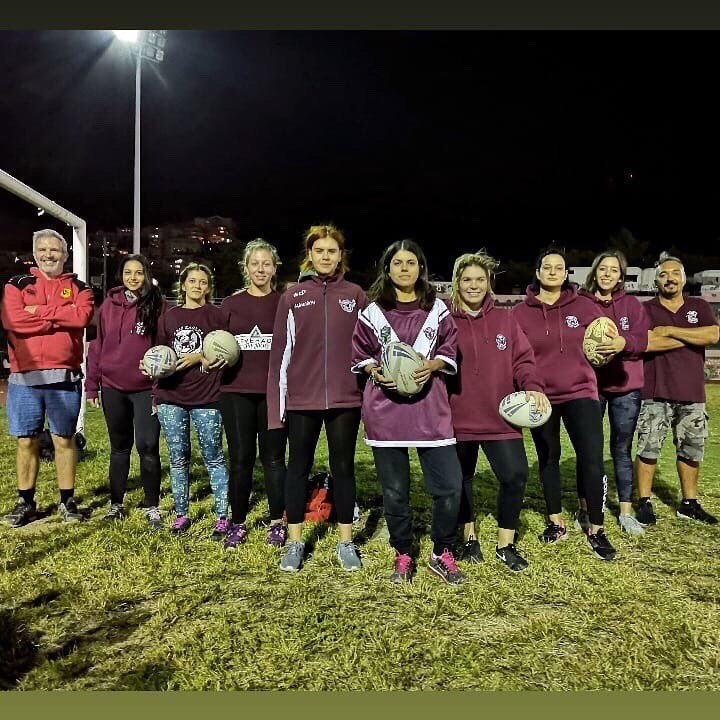 In 2018 a group of women  joined us at @EaglesAris training. The @GreekRL now has 3 established women's teams, Aris, Patras and Athens City Raiders. The national team played their 1st international against Turkey last September. #ourway #womensrugbyleaguepic.twitter.com/dhIKMvh4cs